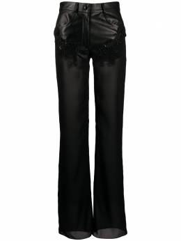 Almaz расклешенные брюки со вставками и бисером TR0101S20