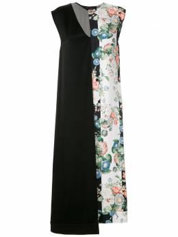 Gloria Coelho платье миди асимметричного кроя I20V009