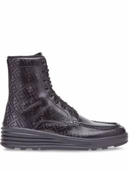 Fendi ботинки на шнуровке с логотипом FF 7U1324A9SJ