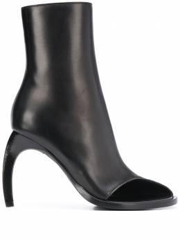 Ann Demeulemeester ботильоны на скульптурном каблуке с открытым носком 20012860363