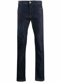 Fendi джинсы кроя слим с логотипом FF FLP201AAHP