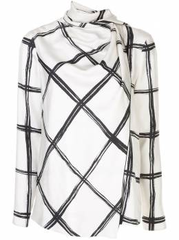 Jason Wu Collection блузка в клетку R2002006A