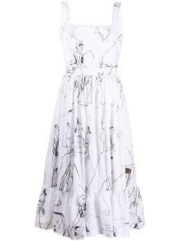Alexander McQueen платье с принтом 623552QDAAO