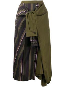 Marni юбка со вставками и поясом на завязках GOMA0203Q0TCY39