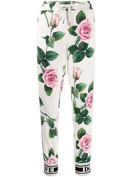 Dolce&Gabbana спортивные брюки с принтом Tropical Rose FTA1DTFSRMB