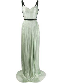 Maria Lucia Hohan плиссированное платье Mina с портупеей MINADRESS000