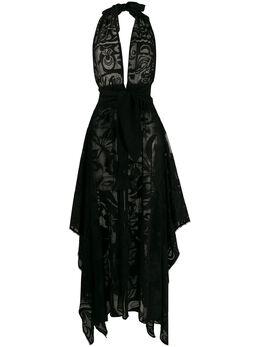 Emilio Pucci прозрачное пляжное платье с цветочным принтом 0EWI400E699