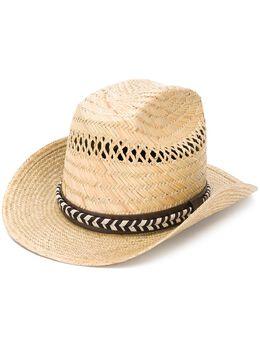 Saint Laurent соломенная шляпа Kate 6111883YE07