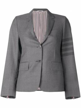 Thom Browne пиджак с 4 полосками на рукаве FBC521A04346