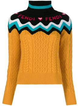 Fendi трикотажный свитер с логотипом FZY664A3F3