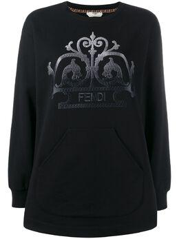 Fendi свитер с вышитым логотипом FS7180A8FV