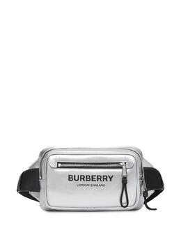 Burberry logo-print metallic belt bag 8028947