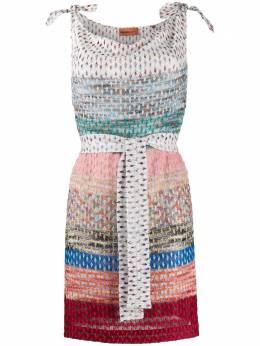 Missoni Mare платье мини в полоску в технике кроше MMQ00121BR0080