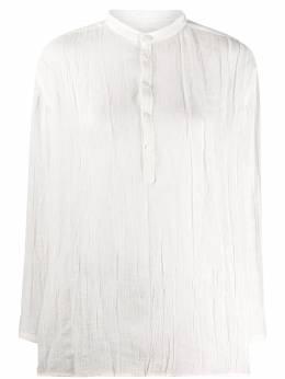 Jil Sander рубашка с жатым эффектом и воротником-стойкой JPPQ601305WQ321000
