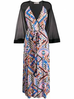 Emilio Pucci длинное платье с геометричным принтом 0HJI200H737