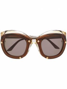 Kuboraum солнцезащитные очки-маска W1 с двойной оправой KRS0W2CC000000OG