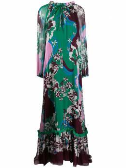 Emilio Pucci длинное платье с принтом 0ERI400E742