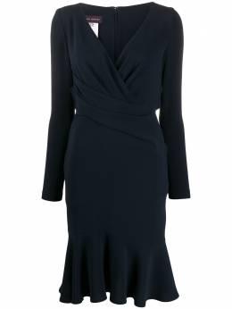 Talbot Runhof платье с запахом COCONUT1UT15