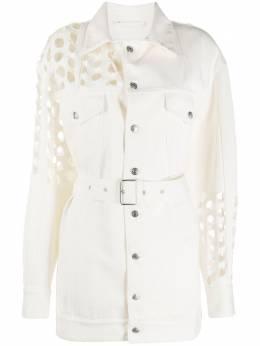 Maison Margiela джинсовая куртка с вырезами и поясом S29AM0339S47399