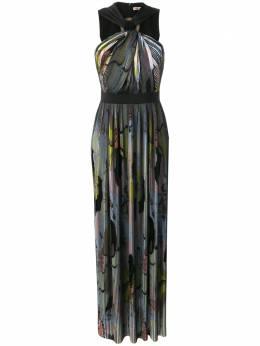 Emilio Pucci плиссированное вечернее платье 9RRI859R999