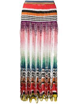 Missoni Mare трикотажная юбка в стиле колор-блок с вырезами MMH00027BR00AD