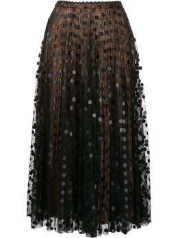 Marco De Vincenzo юбка миди с кружевными вставками MQ5232MDVNY02