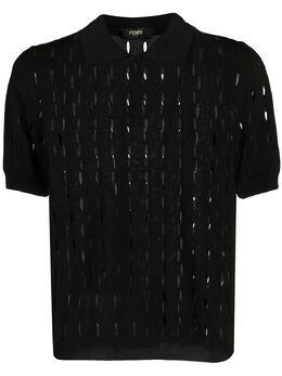 Fendi трикотажная рубашка-поло с прорезями FZC125ABDB