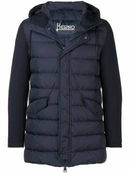 Herno пуховая куртка с контрастными рукавами PI0489U12004