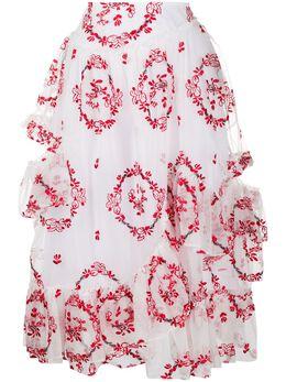 Simone Rocha юбка с оборками и завышенной талией 33640346