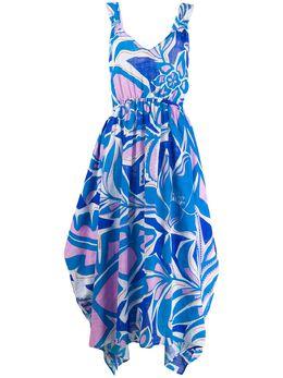 Emilio Pucci длинное платье Samoa с принтом 0EWI200E756