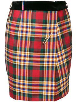 Alexandre Vauthier клетчатая юбка мини 183SK910BIS0379
