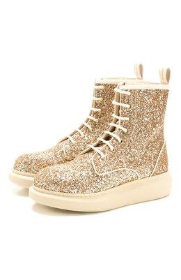Текстильные ботинки Alexander McQueen 586394/W4EY6