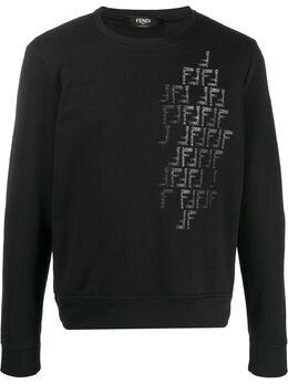 Fendi толстовка с логотипом FF FAF535AAY4