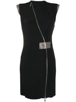 John Richmond платье мини с диагональной молнией RWP20257VE