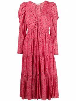 Ulla Johnson расклешенное платье с принтом SP200129