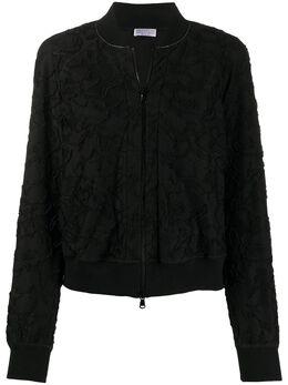 Brunello Cucinelli куртка-бомбер с цветочной вышивкой MH950HY606C101