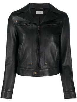 Saint Laurent укороченная байкерская куртка 601656YC2OC