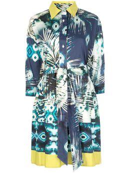 Sara Roka платье-рубашка с абстрактным принтом 8EKATERY3099