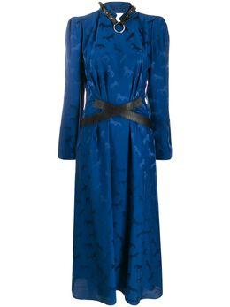 Stella McCartney жаккардовое платье миди 585913SNA57
