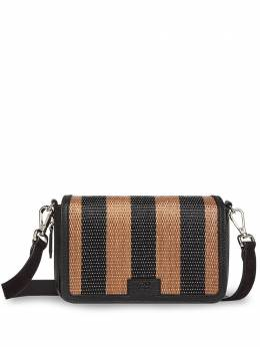 Fendi полосатая сумка на плечо 7M0299ABH0