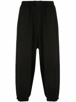 Yohji Yamamoto брюки широкого кроя со складками HNP32100