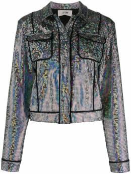 Kirin укороченная куртка с эффектом металлик KWEA007S20JER0018700