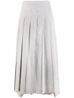 Thom Browne плиссированная длинная юбка из сирсакера FGC698A00572