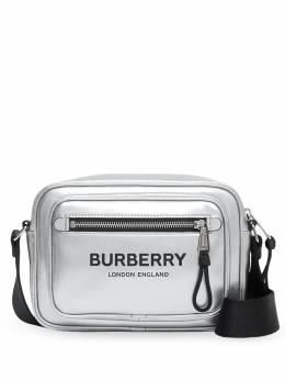 Burberry сумка через плечо с эффектом металлик 8028946