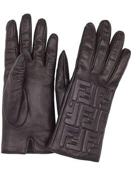 Fendi перчатки с тиснением FF FXY564AALW