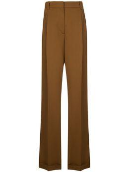Oscar De La Renta расклешенные брюки со складками 20SN387SWBBRZ