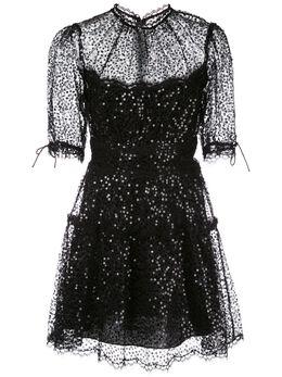 Jonathan Simkhai кружевное платье мини с пайетками 1201096S