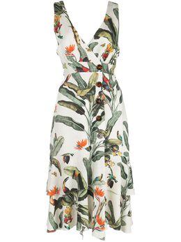 Patbo платье с ажурными вставками и принтом VES2249CUS