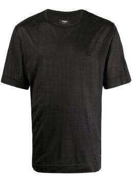 Fendi футболка с вышитым логотипом FY0936ABQS