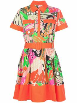 Paule Ka платье-рубашка в стиле колор-блок 210R58